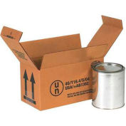Two - 1 Quart Haz Mat Box - Holds Two (2) 1 Quart Containers - 25 Pack