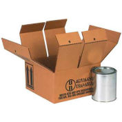 Four - 1 Gallon Haz Mat Box -Hold Four (4) 1 Gallon Containers - 18 Pack