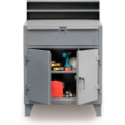 """36""""W x 28""""D Cabinet Shop Desk with Drawer - Gray"""