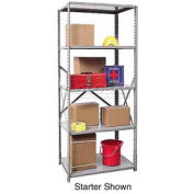 "Hallowell Steel Shelving 22 Ga 36""Wx18""Dx87""H Open Clip 5 Shelf Add-On"