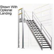 "12 Step Industrial Staircase - 105"" Landing Height"