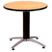 "OFM 36"" Multi-Purpose Round Table with Metal Mesh Base, Oak"