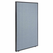 "Office Partition Panel, 36-1/4""W x 60""H, Blue"