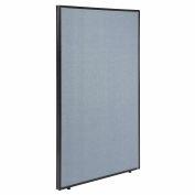 "Office Partition Panel, 36-1/4""W x 60""H, Blue"