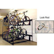 Bike Fixation Lockable Two Tier 8 Bike Storage Rack