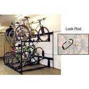Bike Fixation Lockable Two Tier 8 Bike Storage Rack