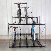 Bike Fixation Lockable Two Tier 10 Bike Storage Rack