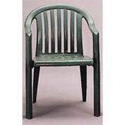Grosfillex® Resin Lowback Stacking Outdoor Armchair - Green (Sold in Pk. Qty 4) - Pkg Qty 4