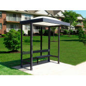 """Smoking Shelter Dome Roof Three Sided With Open Front 7'6"""" X 2'8"""""""