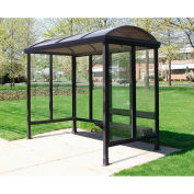 Smoking Shelter Barrel Roof Three Sided With Open Front 10'X 5'