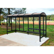 Smoking Shelter Barrel Roof Three Sided With Open Front 15'X 5'