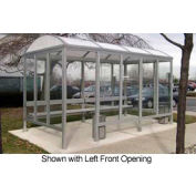 """Smoking Shelter Barrel Roof Four Sided With Left  Front Opening 15' X 7'6""""'"""