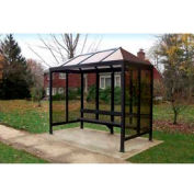 """Smoking Shelter Vented Poly-Hip Roof Three Sided With Open Front 7'6"""" X 2'8"""""""