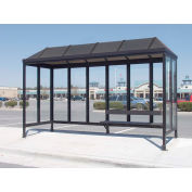 Smoking Shelter Vented Poly-Hip Roof Three Sided With Open Front 15' X 5'