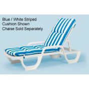 Grosfillex® Chaise Cushion With Hood - Blue - Pkg Qty 6