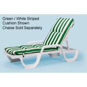 Grosfillex® Chaise Cushion With Hood - Green (Sold in Pk. Qty 6) - Pkg Qty 6