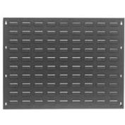 """Global Industrial™ Louvered Gray Wall Panel Without Bins, 27"""" x 21"""" - Pkg Qty 2"""