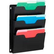 Steel Triple Wall File Pockets Letter Size - Black