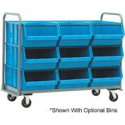 """Jamco Super Size 9 Bin Cart RM160-U7-B7-NB - 60""""L X 18""""W X 47""""H - No Bins"""
