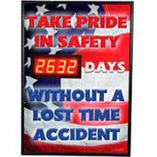 Digital Safety Scoreboard Sign - Take Pride in Safety