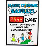 Digital Safety Scoreboard Sign - Make it Home Safely...