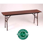 Laminated Folding Table 18 X 96 - Walnut