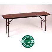 Correll Folding Table - Laminate - 18 X 96 - Walnut