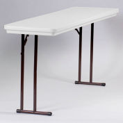 Portable Folding Table 18 x 72 - Gray Granite