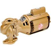 Three-Piece Bronze Series 100 BNFI Circulator Pump 106197LF - 1/12 HP