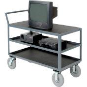 Three Shelf Audio Visual & Instrument Truck 60 x 30 1200 Lb. Capacity
