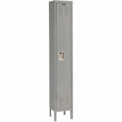 Hallowell U1888-1A-HG Premium Locker Single Tier 18x18x72 1 Door Assembled - Dark Gray