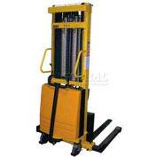 Vestil Battery Operated Lift Stacker SL-137-AA Adj. Forks Inside Adj. Legs