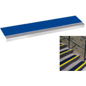 "Grit Surface Aluminum Stair Tread 9""D 54""W Glued Down Grayblue"