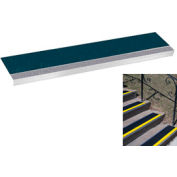 "Grit Surface Aluminum Stair Tread 11""D 42""W Glued Down Graygreen"