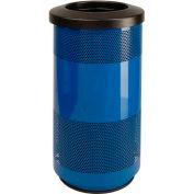 Perforated Stadium Series® Trash Container - 20 Gallon Blue
