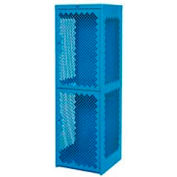 Heavy Duty Extra Wide Vented Steel Locker Single Tier 24x24x74 1 Door Blue