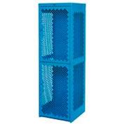 Pucel Heavy Duty Extra Wide Vented Steel Locker Single Tier 24x24x74 1 Door Blue