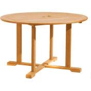 """Oxford Garden® 48"""" Round Outdoor Dining Table - Teak"""