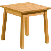 "Oxford Garden® 20"" Square Outdoor End Table - Teak"