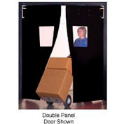 "Aleco® 3' x 7' x 0.25"" Single Panel Black Flexible Impact Traffic Door 436041"
