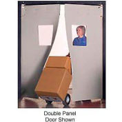 "Aleco® 3' x 7' x 0.25"" Single Panel Gray Flexible Impact Traffic Door 436002"