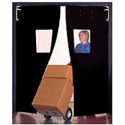 "Aleco® 6' x 8' x 0.25"" Twin Panel Black Flexible Impact Traffic Door 436047"