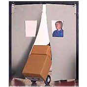 "Aleco® 7' x 8' x 0.25"" Twin Panel Gray Flexible Impact Traffic Door 436025"