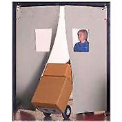 "Aleco® 8' x 8' x 0.25"" Twin Panel Gray Flexible Impact Traffic Door 436016"