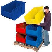 Quantum Hulk Plastic Stacking Bin QUS993BL 16-1/2 x 35-7/8 x 17-1/2 Blue