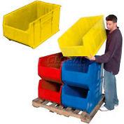Quantum Hulk Plastic Stacking Bin QUS993YL 16-1/2 x 35-7/8 x 17-1/2 Yellow