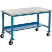 72 x 36 Plastic Square Edge Mobile Lab Bench