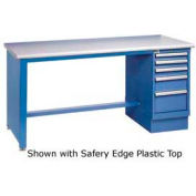 60x30 Safety Maple Pedestal Workbench with 4 Drawers