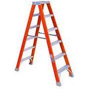 Louisville 12' Dual Access Fiberglass Step Ladder - 375 lb Cap. - FM1412HD