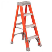 Louisville 4' Fiberglass Step Ladder - 300 lb Cap. - FS1504.